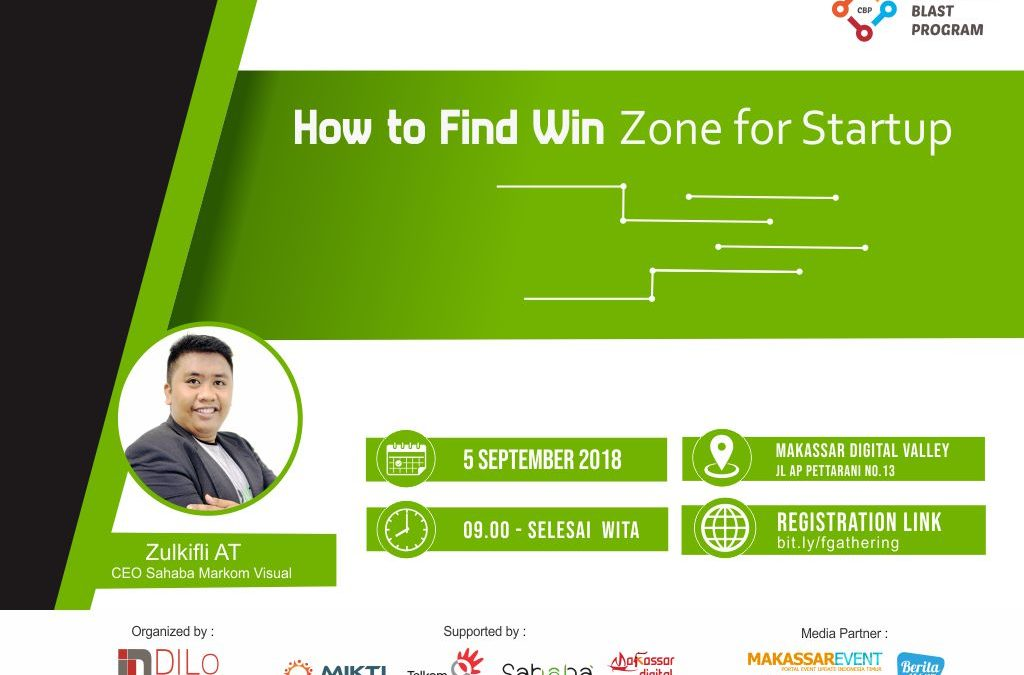 "[Event] COMMUNITY BLAST DILo Makassar – Founder Gathering ""How to Find Win Zone for Startup"""