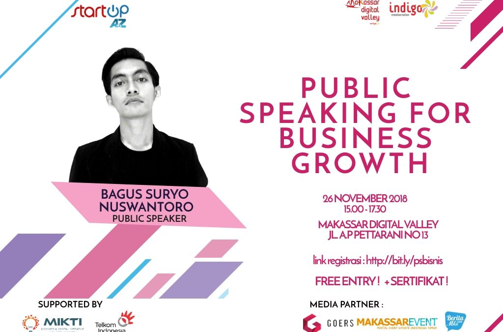 Startup AtoZ : Public Speaking For Business Growth