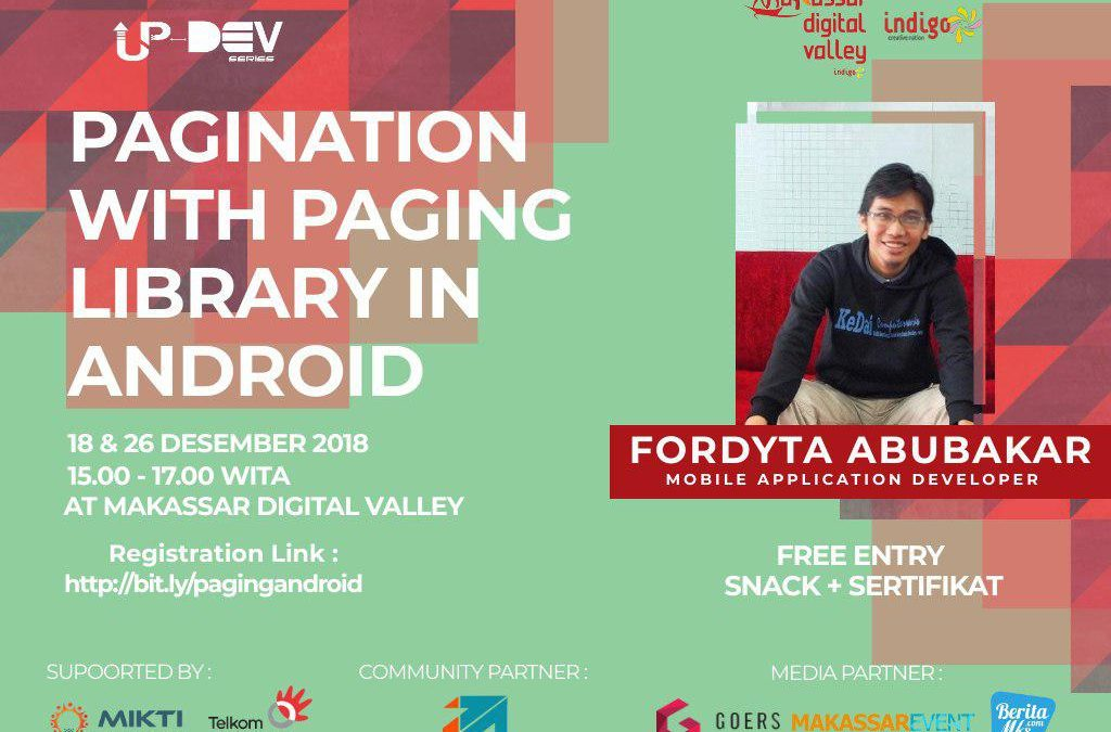 "Up-Dev Series ""Pagination with Paging Library in Android"""