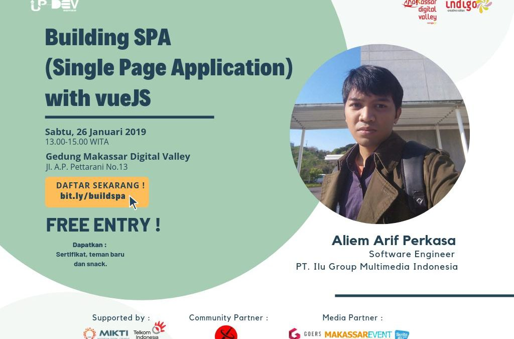 "Up-Dev Series ""Building SPA (Single Page Application) with vueJS"""