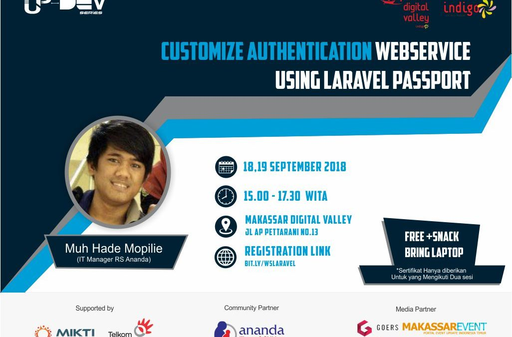 Up-Dev Series : Customize Authentication Web Service Using Laravel Passport