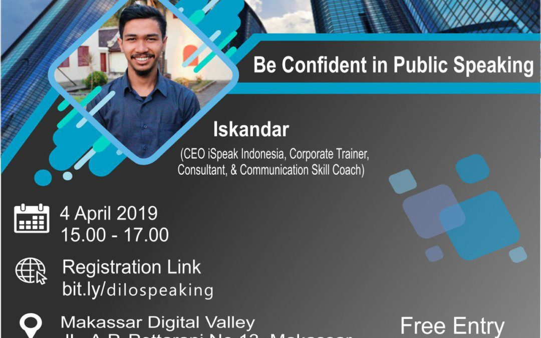 Bizmarknet DILo Makassar – Be Confident in Public Speaking
