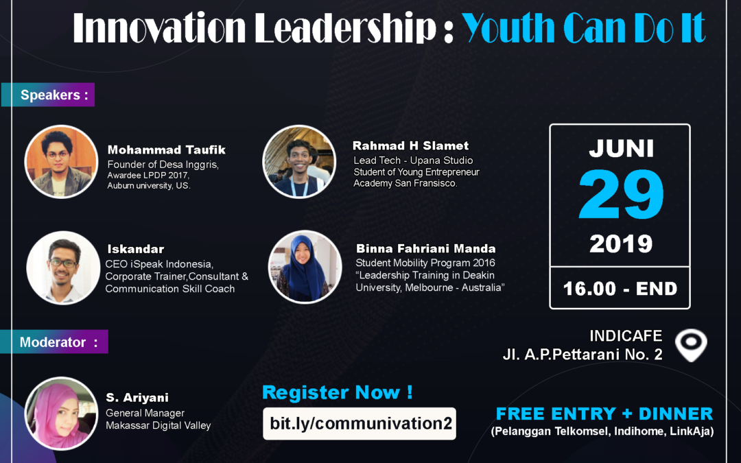 "Communivation ""Innovation Leadership : Youth Can Do It"""
