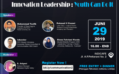 """Communivation """"Innovation Leadership : Youth Can Do It"""""""
